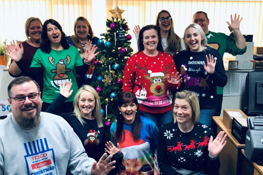 The Amberon Group people festiuve and ready for Christmas after a stellar 2019