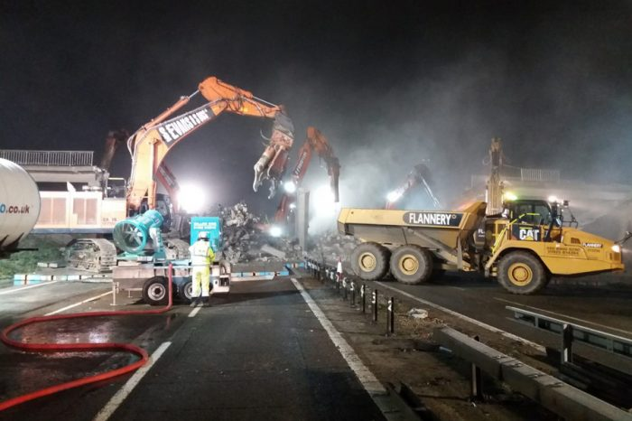 M4 near Maidenhead reopens early following weekend bridge demolition
