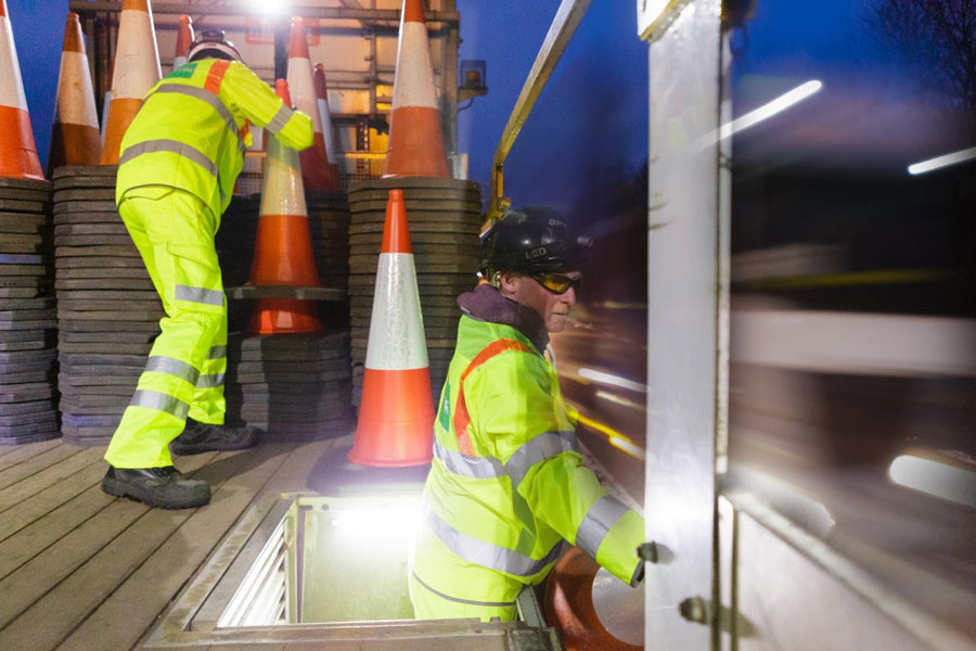 Automated cone laying vehicle trials due to start