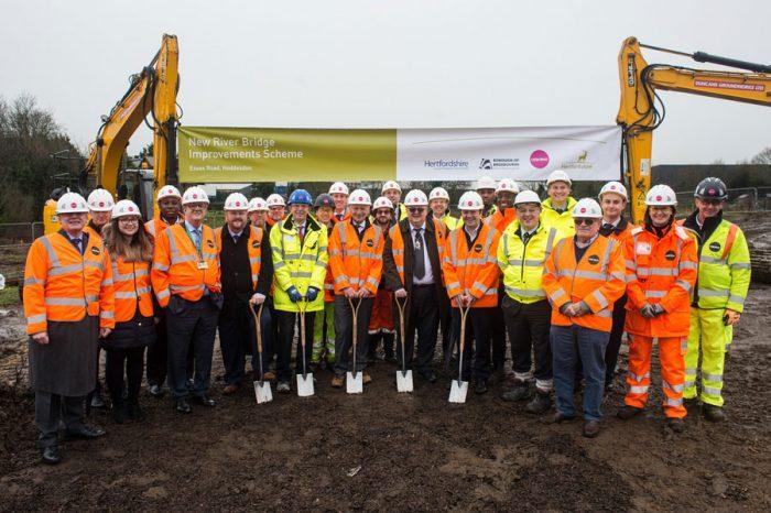 Work starts on New River Bridge in Hoddesdon