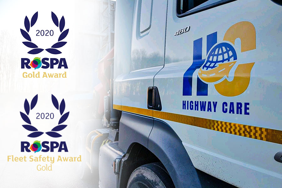 Highway Care | Highway Care celebrating after two RoSPA Gold Awards