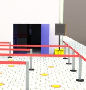 The Compact HD from MVIS can aid indoor queuing with social distancing and safety advice