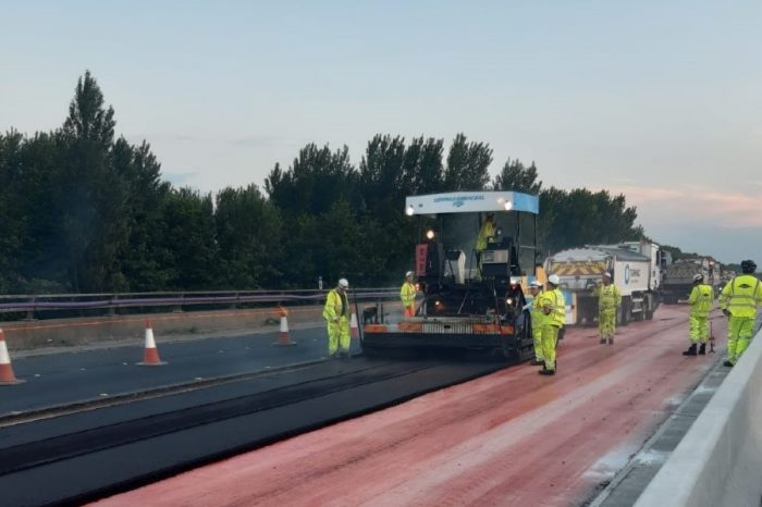 M56 bridge repairs finished four months early