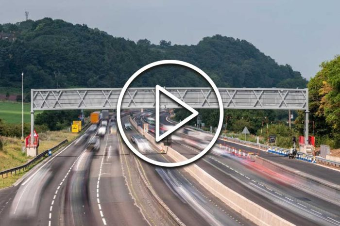 Two superspan gantries installed over M6 in under 10 hours