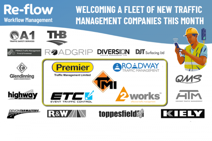 Re-flow   Re-flow welcomes a fleet of new Traffic Management Companies