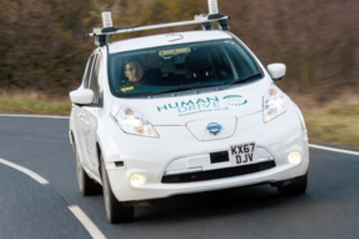 Vehicle completes 230 mile self-navigated drive across the UK