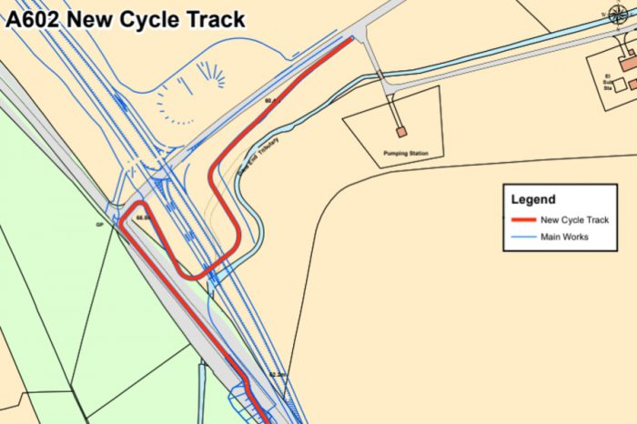 Off-road cycle track gets go-ahead for A602 scheme