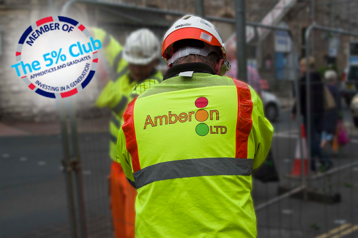 Amberon TM | Amberon commits to 'earn and learn' by joining The 5% Club