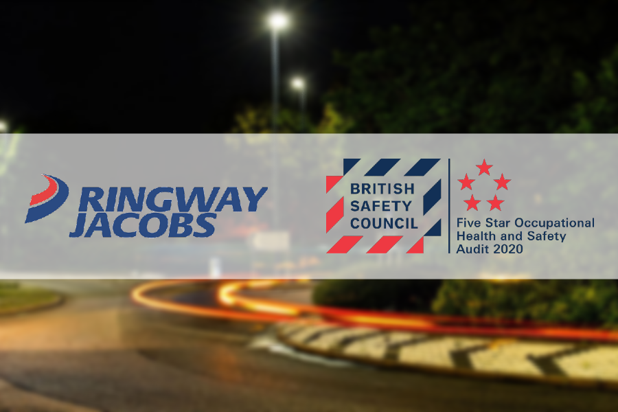 Ringway Jacobs | Celebrating Five Star grading in the British Safety Council's Five Star Occupational Health and Safety Audit