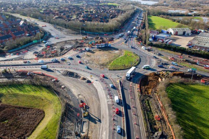 New images capture 'half hamburger' taking shape at busy roundabout