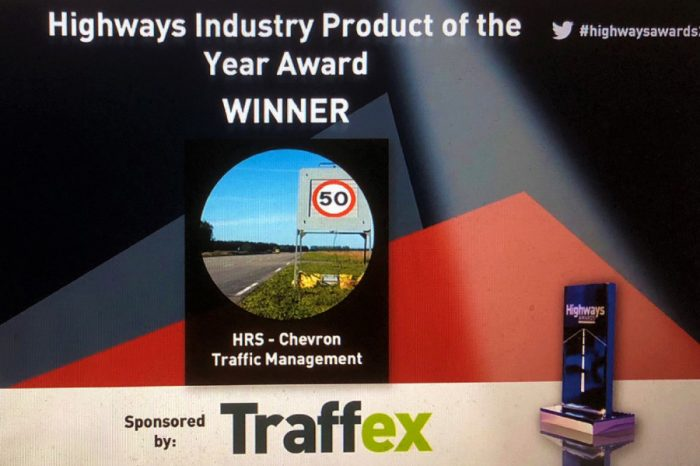 Chevron TM | SMART SIGN wins Product of the Year Award for Chevron TM and HRS