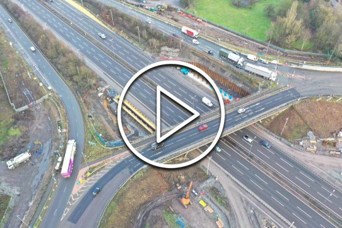 New footage reveals progress on M6 junction improvements