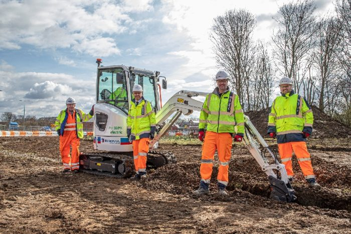 Eurovia UK | Eurovia Contracting buys UK's first electric Volvo mini excavator