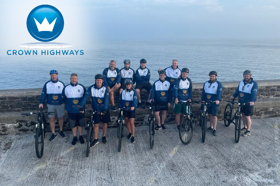 Crown Highways   Cycling a long way from home for a local cause