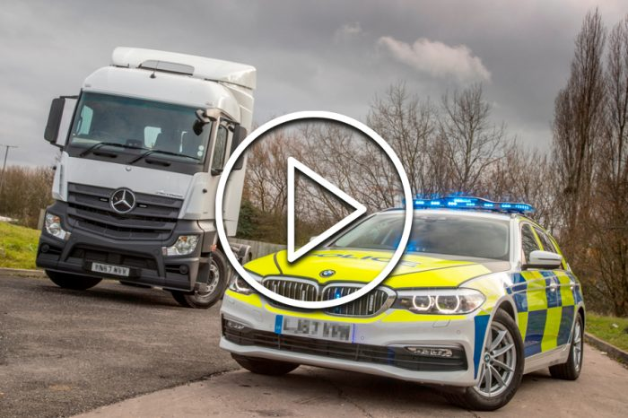Footage shows lorry driver with a mobile phone to each ear on motorway ahead of South West road safety initiative