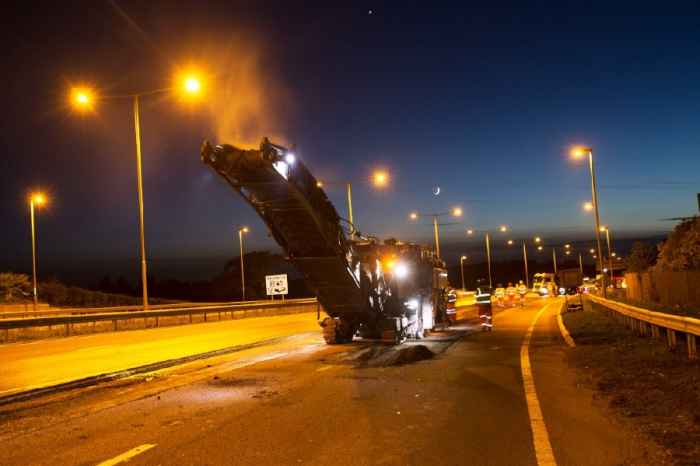 Revolutionary resurfacing on the A1 in Northumberland