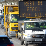 'Rest in peace John Kelly' : A fitting send-off.